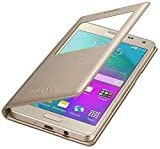 Sun Tigers Samsung Z2 Tizen Window Flip Cover (Gold)+ Tempered Flexible Curved Glass