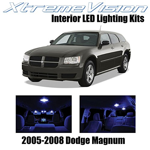 XtremeVision Interior LED for Dodge Magnum 2005-2008 (7 Pieces) Blue Interior LED Kit + Installation Tool
