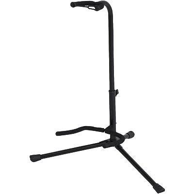 BSX 518050 - Soporte para guitarra acústica y eléctrica, color negro