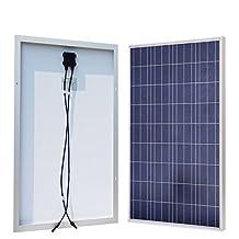 ECO-WORTHY 100 Watt 100w Polycrystalline Photovoltaic PV Solar Panel Module 12V Battery Charging