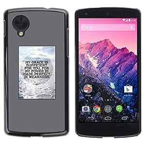 Be Good Phone Accessory // Dura Cáscara cubierta Protectora Caso Carcasa Funda de Protección para LG Google Nexus 5 D820 D821 // Poster Gray Motivation