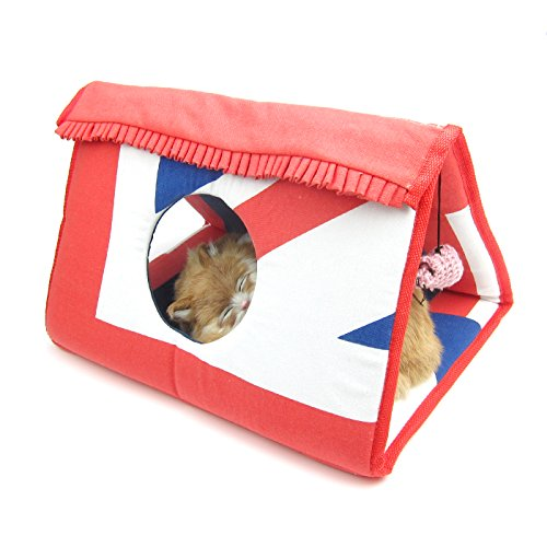 Alfie Pet by Petoga Couture - Austin Collapsible Tunnel with Sisal Scratcher for Cat - Color Blue (Austin House Cleaning)