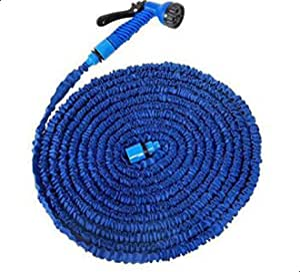 Expandable water X Hose, 52 meter, blue color