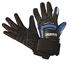 Protect your hands with the O?Brien Pro Skin Waterski Gloves These high performance waterski gloves have pre curved fingers so you don?t have to exert more effort than needed when gripping the handle The wide wrist strap and backhand tab ensu...
