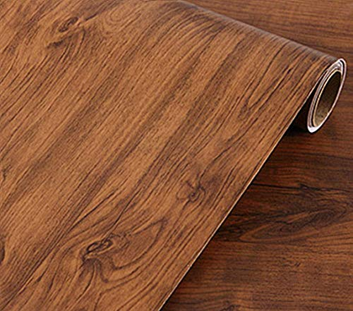 REDODECO Vintage Brown Oak Wood Grain Paper Peel Stick for sale  Delivered anywhere in Canada