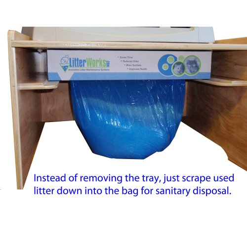 High-Capacity litter disposal system for Littermaid. Compatible with LM980 and all Elite models.