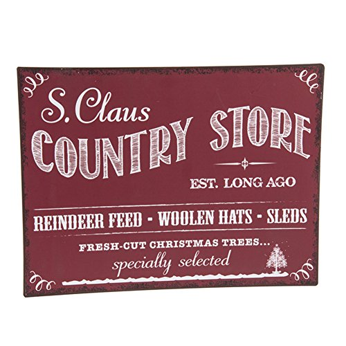 S. Claus Country Store Christmas on the Farm Metal Plaque (Christmas Trees For Sale Sign)