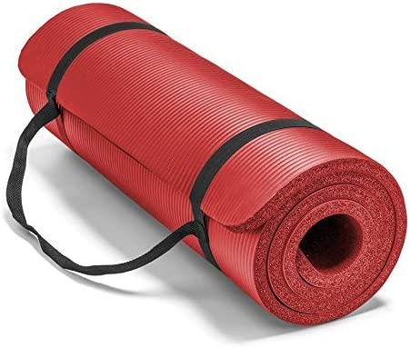 Spoga Premium 1 2-Inch Extra Thick High Density Exercise Yoga Mat with Carrying Strap