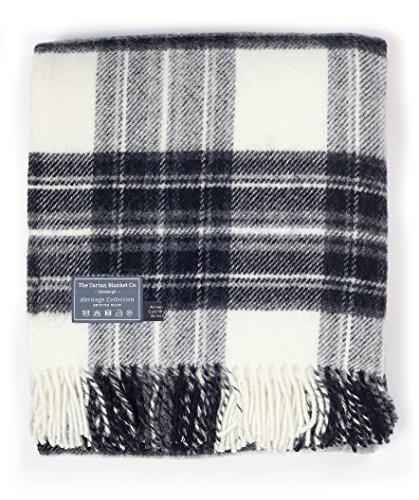 The Tartan Blanket Co. New Wool Blanket Stewart Grey Dress Tartan (59