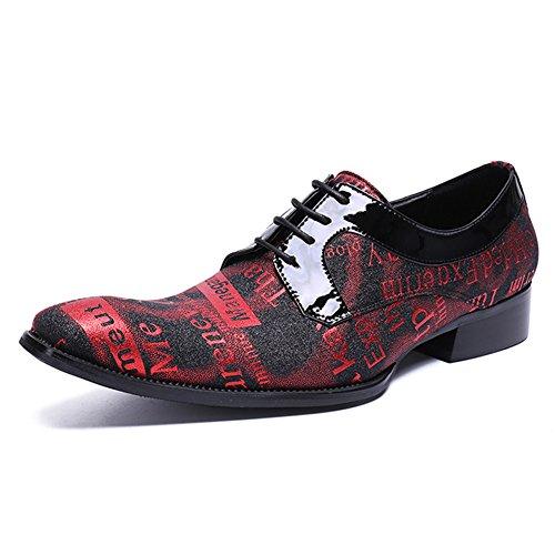 Da Uomo Red Rosso Up Da Affari Scarpe Formale Festa Sposa MSFS T Dell'alfabeto Dress Lace 5pHxSWW