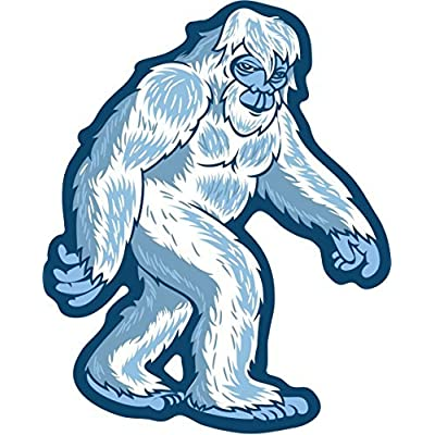 Yeti Sticker Abominable Snow Monster | Die-Cut Label | Folklore Creature Legend | I Believe Hunting Searching for Sasquatch Bigfoot | Use on Water Bottle Decal for Sign Toy Book Sock T-Shirt Earring: Automotive