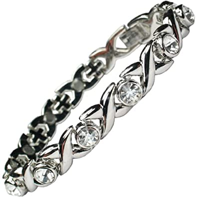 MPS Ladies JAMAIN Lilac Cystals Magnetic Bracelet for Women + Free Links Removal Tool mHbYoTwcZ