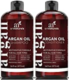 Moroccan Oil Curly Hair Art Naturals Organic Moroccan Argan Oil Shampoo and Conditioner Set (2 x 16 Oz) - Sulfate Free - Volumizing & Moisturizing, Gentle on Curly & Color Treated Hair,For Men & Women Infused with Keratin