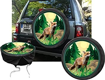 DSF Funda para rueda de repuesto protectora zorro Verano Caza - Fans para su Jeep: Amazon.es: Coche y moto