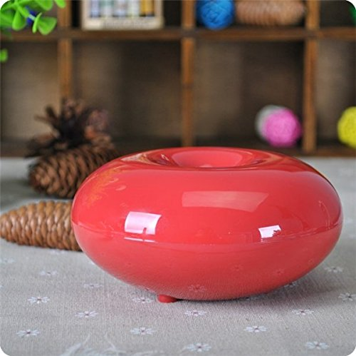Binglinghua100ml Color Changing Mist Humidifier Ultrasonic Aroma Essential Oil Diffuser for Office Home Bedroom Living Room Study Yoga Spa (Red)