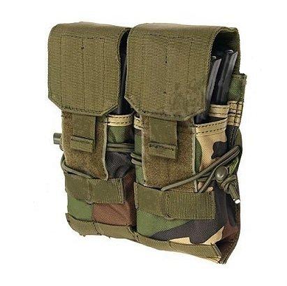 PORTE CHARGEUR 2 POCHES POUR AK M4 M16 CAMO WOODLAND 8 FIELDS