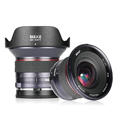 Meike 12mm F/2.8 Ultra Wide Angle Manual Foucs Prime Lens for Sony E Mount APS-C Mirrorless Cameras A7III A9 NEX 3 3N 5 NEX 5T NEX 5R NEX 6 7 A6400 A5000 A5100 A6000 A6100 A6300 A6500,etc