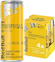 Energético Tropical Red Bull Energy Drink Pack com 4 Latas de 250ml