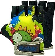 Kids Bike Gloves for Balanced Bike Mountain Bicycle Biking I Breathable Fingerless Toddler Kids Cycling Gloves
