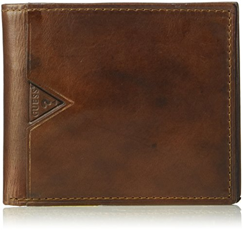 Guess Men's Leather Billfold Wallet With Zippered Cash - Men Sale Guess