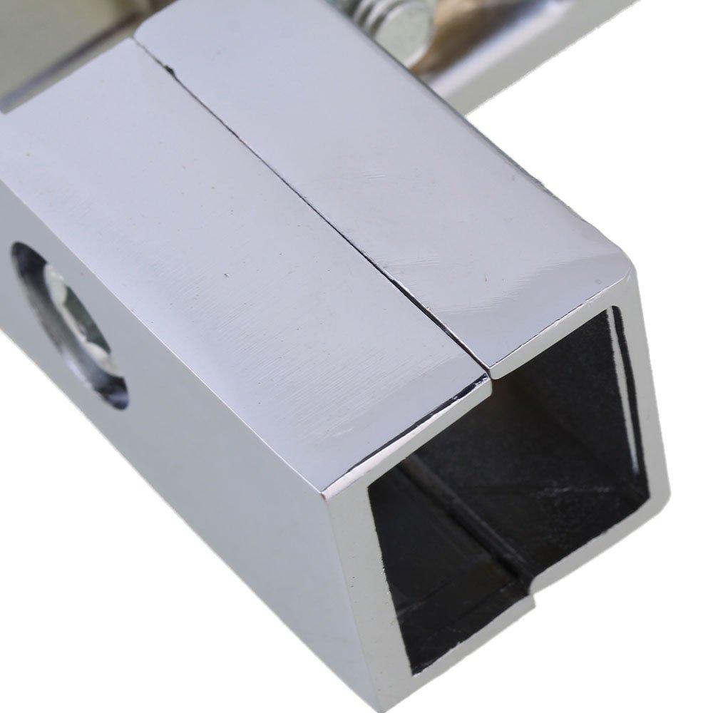 Yibuy Argent en Alliage daluminium Forme de l V/êtement de Tube carr/é connecteur 3/Voies pour Tuyau 25/mm