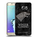 Official HBO Game Of Thrones Stark Dark Distressed Sigils Soft Gel Case for Samsung Galaxy S6 edge+ / Plus