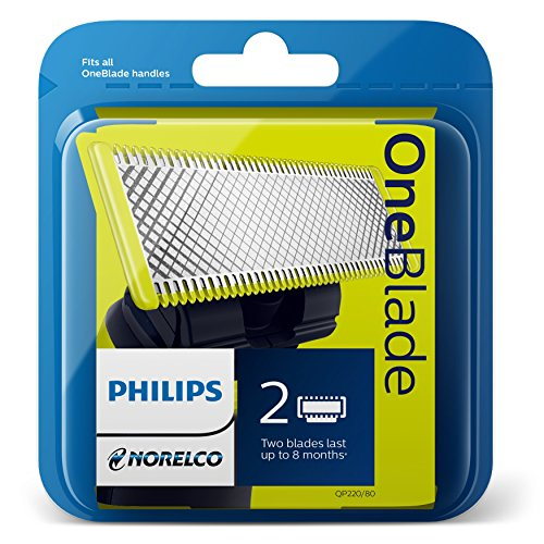 Philips Norelco QP220/80 OneBlade Replacement Blades, 2 Count