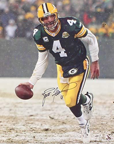Brett Favre 16x20 Photo - Brett Favre #4 Signed Green Bay Packers 16x20 Photo (Favre COA) Official Brett Favre Hologram & COA
