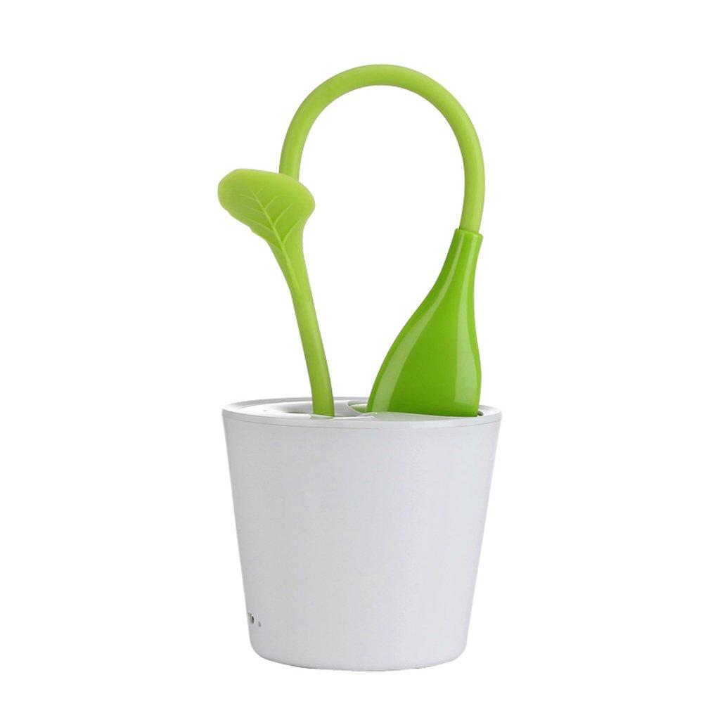 MagiDeal Carica USB LED Penna Lampada da Scrivania Tavolo in Portapenne Forma Protezione Degli Occhi Leggendo Lampada - Verde scuro