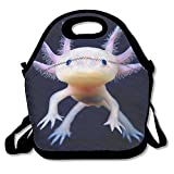WEI D SHQ Reusable Lunch Bag Mexican Axolotl Food Handbag Custom Lunch Holder Printed Lunch Tote Bag Multi-function Lunch Box Organizer For Adults And Kids