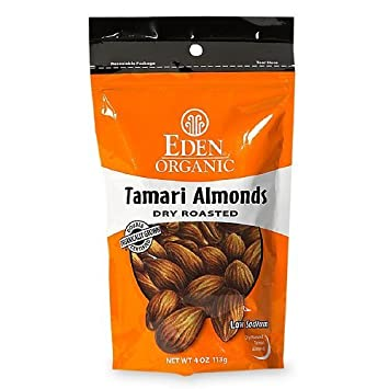 Amazon com : Eden Foods Tamari Almonds, Dry Roasted 4 oz