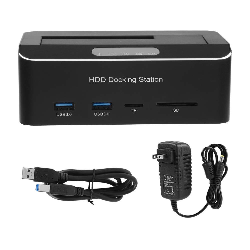 Yosooo Hard Drive Dock, USB3.0 to SATA External Hard Drive Docking Station for 2.5/3.5'' HDD Support SD/TF Card(US Plug) by Yosooo