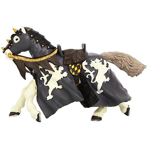Papo 39776 - Figurine - Cheval Du Chevalier Noir A La Hache
