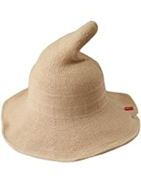 Luoke Women Summer Witch Cotton Sun Hat Foldable Costume Ball Hat Cap 89ed42a68048