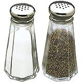 Tablecraft C156-12 Paneled Salt and Pepper Shaker 3 oz (SET OF 48 PER CASE)
