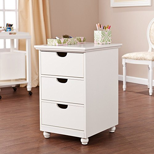 Southern Enterprises Anna Griffin 3 Drawer File Cabinet in White - Anna Griffin Scrapbook Paper