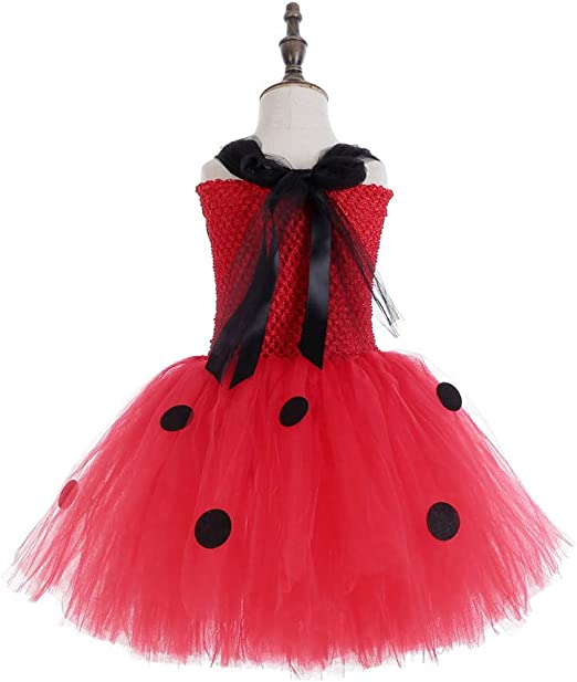 Azly-Cloth Ladybug Tutu Dress Disfraz de Halloween, Tela de Gran ...