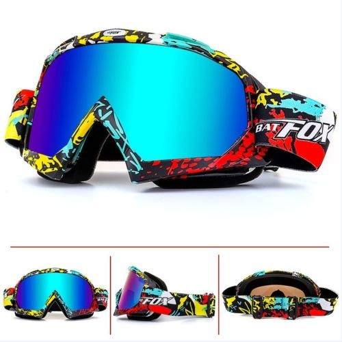 BAT-Fox Adult Ski Goggles Double Layers Anti-Fog Winter Snowboard Skiing Glasses Adult Cycling Motorcycle Goggles (Colorful) ()