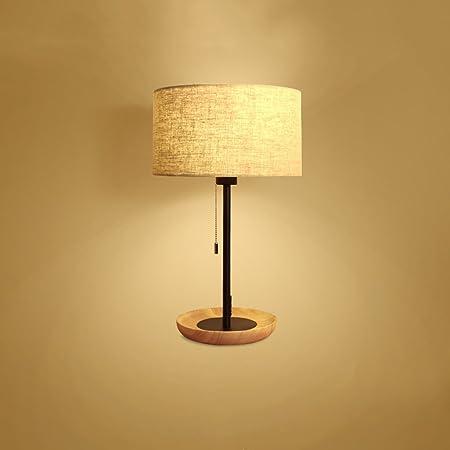 Pointhx Lámparas de Escritorio de Madera Creativas Nordic Lámina ...