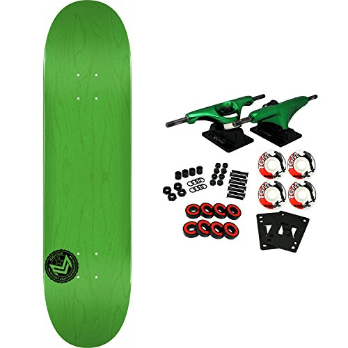 Mini-Logo Powell Skateboard Complete Chevron Stamp 12 K20 Concave Green 8.0