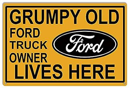 Cartel de Metal con Texto en inglés Nostalgic Ford FIGNS ...