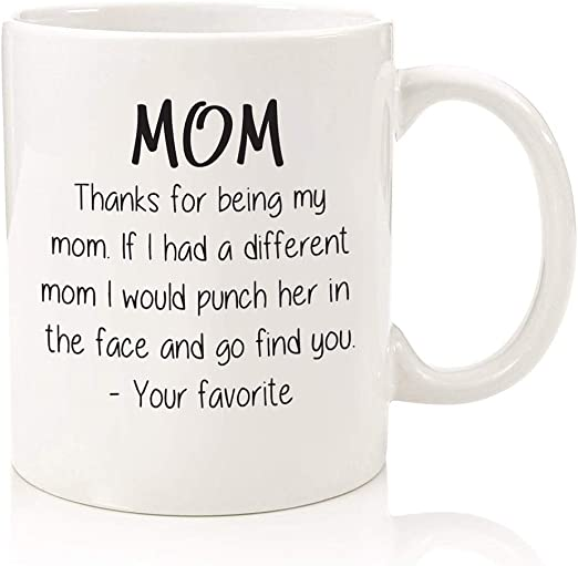 Novelty Cup Birthday Mothers Day Gift Mom Funny Coffee Mug from Daughter Son