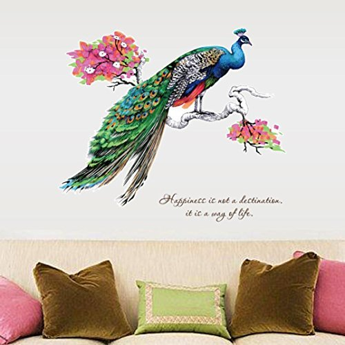 Cheap  Wall Stickers, BCDshopDIY Chinese Style Peacock Wall Murals Home Bedroom Living Room..