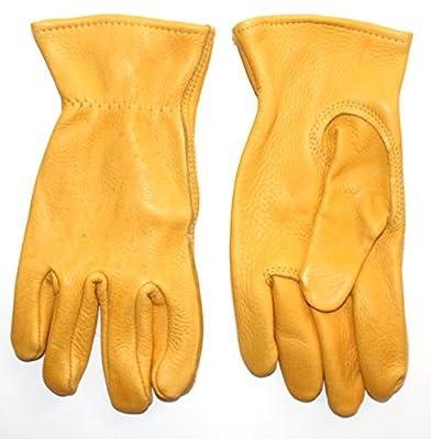 American Made Genuine Deerskin Buckskin Leather Work Gloves , 850, Size: Small