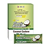 Mauer Sports Nutrition Classic Protein Bar, Coconut Cashew (65g), 19g Protein, 12-count