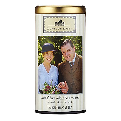 The Republic Of Tea Downton Abbey Bate's Brambleberry Tea, 36 Tea Bags, Fine Black Tea And Fruit Tea