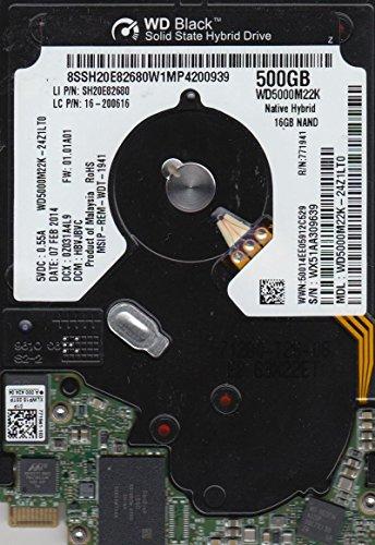 (WD5000M22K-24Z1LT0, DCM HBVJBVC, Western Digital 500GB SATA 2.5 Hard Drive)