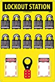 LOK5 Assembly / Kit National Marker 10 Padlock Station