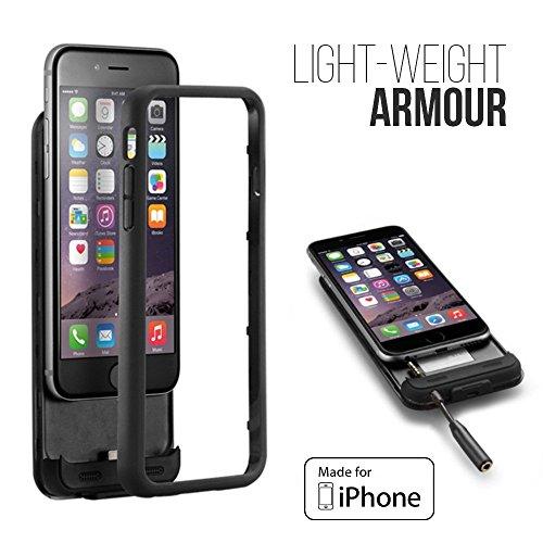 Case Power Edge Custodia con Batteria Integrata da 3000mAh per Apple iPhone 6, Nero