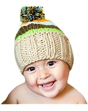 Melondipity Boys Striped Ollie Baby Hat - Premium Crochet Beanie - Fall & Winter